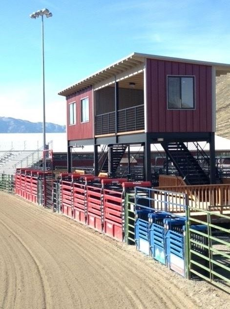 Newly constructed crows nest and bucking chutes - May 2015
